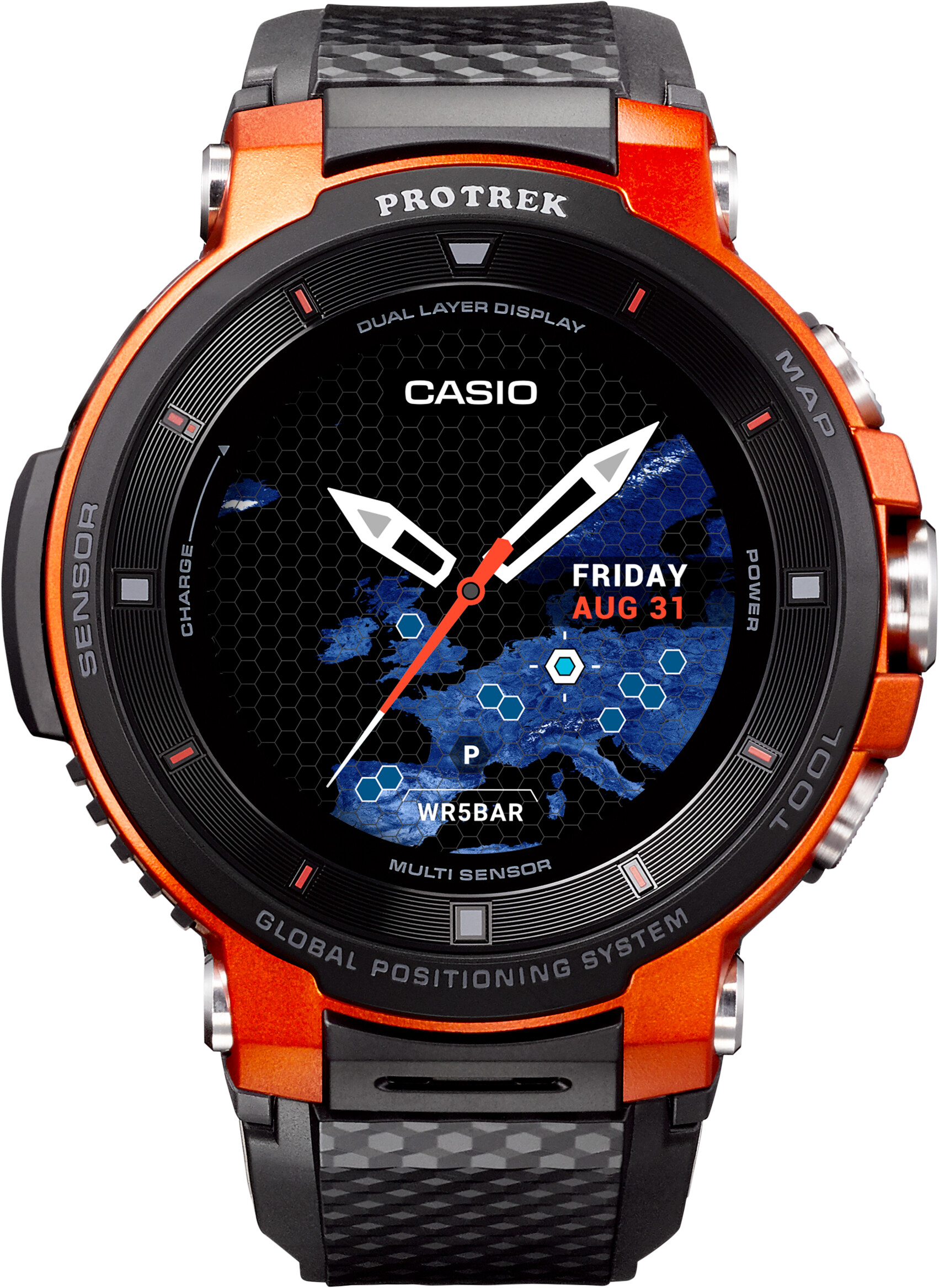 e0acd321fd55 CASIO PRO TREK SMART WSD-F30-RGBAE Smartwatch Men